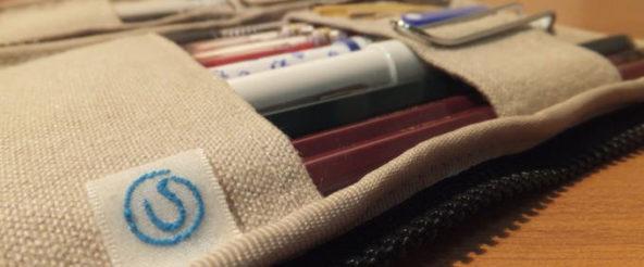 つくしペンケースに一軍文具の定位置を決めて一覧化! 帆布製で手触りもキモチイイ
