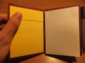 薄いメモ帳を自分に合わせる! ポストイットを貼付けて付箋ジョッターとして使う方法への転換