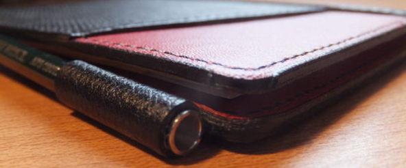 薄いメモ帳の付属ペンに感じた違和感を、オートのシャープペンに変更することで解決
