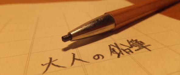 大人の鉛筆の使い心地がクセに! 2ミリの太い芯だからポキポキ折れる心配はなし