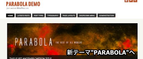 WordPressのテーマを「PARABOLA」に変更です