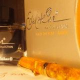 琥珀色の万年筆インク エーデルシュタイン・アンバー(ペリカン)で、太古の昔と自分の気持ちを重ねて想いを馳せる!≡