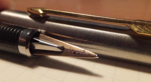 両刀派万年筆 PARKER180(パーカー) 1980年初頭には両面筆記が標準装備な面白い万年筆があった