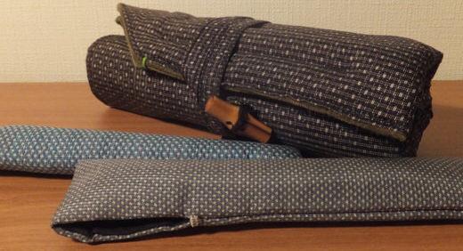大島紬のペンケースを製作依頼。 雅な佇まいとぷっくりとした手触りがたまらない