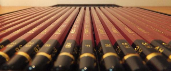 鉛筆の濃さ・硬さの違いをハイユニのアートセット(三菱鉛筆)の全22硬度で一気に愉しむ