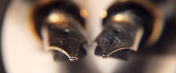 お気に入りのミニ万年筆・M320(Pelikan)を日常使いしたくなり字幅違い(F・細字)を入手。 憧れで買った極太字(BB)も至福の筆記感
