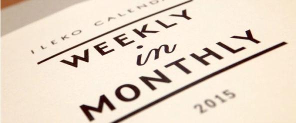 ILEKO CALENDARはポケットサイズの入れ子式手帳。月間+週間のスケジュールを同時に見れる身軽な子を付け足し