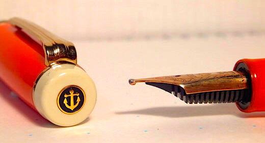 特殊ペン先・ミュージックニブ(MS)の万年筆でユニークなメリハリがある筆跡を奏でる♪ セーラー・プロギア別注モデルの雰囲気と似合う!≡