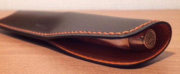 「懐菱」(T.MBH)はスタイリッシュなペンシース。愛用の万年筆を収める鞘を別注 + 完璧フィット