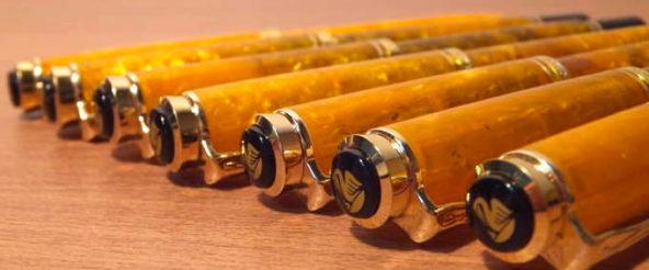 ペリカンの万年筆・スーベレーンM320 オレンジの全字幅揃えが完成! 念願成就して悦に入る