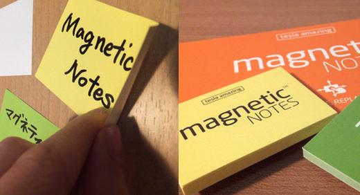 マグネティックノート (magnetic notes)は フシギなフセン。相手を選ばず、ピタリくっつく!≡