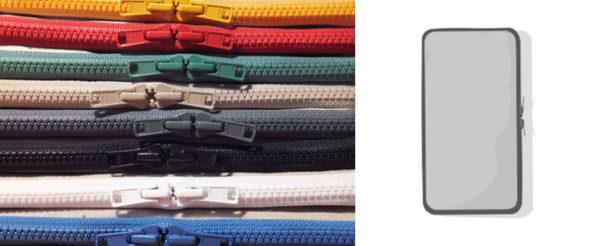8色のつくしペンケース(カラーオーダー + 通常品)が揃う。つくし尽くしでカラフル