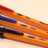 Bicのボールペン・オレンジEG。橙色のボディとビッグフードキャップにデジャヴュ?≡