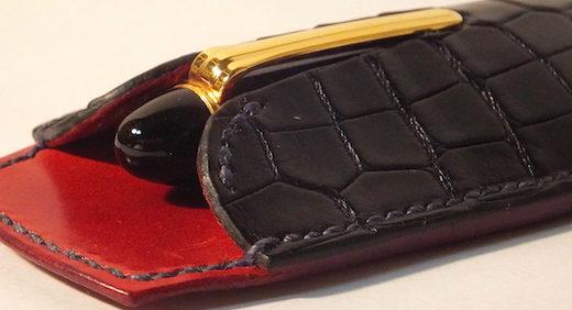 MAISON TAKUYA(メゾンタクヤ)の鰐革ペンシース。ワニの革、やっぱりゴージャス